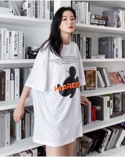 【新品】春裝新款韓版鬆身可愛圖案棉T - 4375A #全店新品4件起75折優惠碼 : -25OFF (HK$135 )