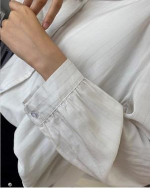 韓國直送CHOCOLATE 梭織滑料中袖恤衫- 4391C  #精選貨品6折優惠價:HK$102 #