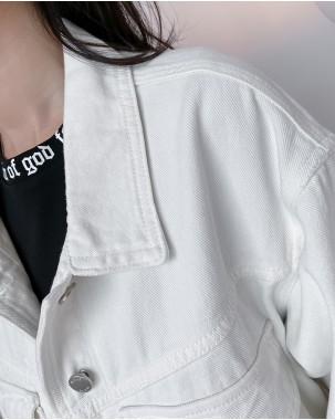 【新品】春裝新款韓版鈕扣短款外套 - 4445A #全店新品4件起75折優惠碼 : -25OFF (HK$203 )