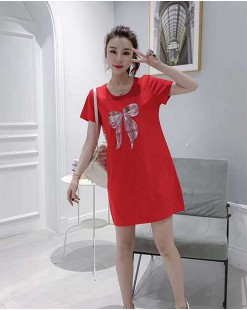 【新品】印圖短袖純棉長T -  4477A  #全店新品4件起75折優惠碼 : -25OFF (HK$135 )