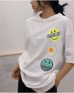 【新品】印圖短袖純棉長T - 4533C #全店新品4件起75折優惠碼 : -25OFF (HK$105)