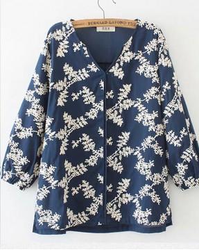 【新品】繡花洗水棉襯衣 - 4551A #全店新品4件起75折優惠碼 : -25OFF (HK$98)