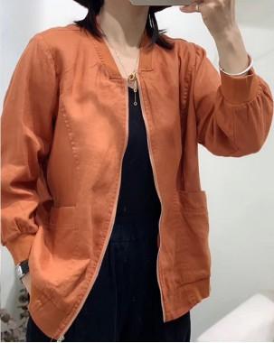 【新品】棉麻純色薄外套 - 4575A #全店新品4件起75折優惠碼 : -25OFF (HK$203 )