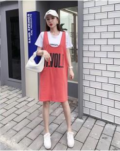 Crazy Summer Sale 任選2件額外再9折優惠碼:CS210 (HK$130) - 短Tee背心裙套裝 - 4888A