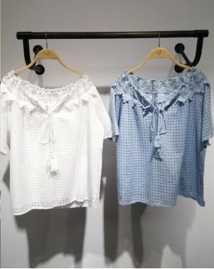 Crazy Summer Sale 任選2件額外再9折優惠碼:CS210 (HK$115) - 哩士綁繩恤衫 - 4900A