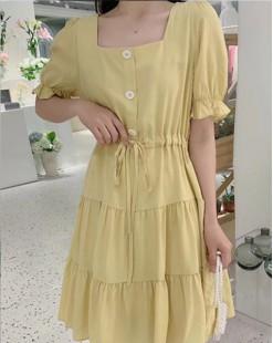 【新品】滑料公主連身裙 - 4903A #全店新品4件起75折優惠碼 : -25OFF (HK$150)
