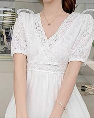 【新品】哩士公主連身裙 - 4904A #全店新品4件起75折優惠碼 : -25OFF (HK$150)