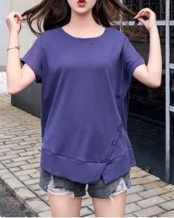 T Shirt年度勁減 任選2件即時8折優惠碼:CS220 (HK$80) - 淨色蝙蝠純棉短Tee - 4913A