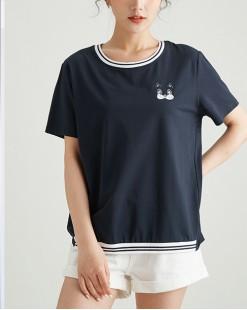 【新品】貓咪圖純棉短Tee - 4957A #全店新品4件起75折優惠碼 : -25OFF (HK$113 )