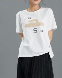 【新品】印帽短身純棉短Tee - 4966A #全店新品4件起75折優惠碼 : -25OFF (HK$113 )