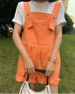 Crazy Summer Sale 任選2件額外再9折優惠碼:CS210 (HK$153) - 短Tee背帶短褲套裝 - 4982A