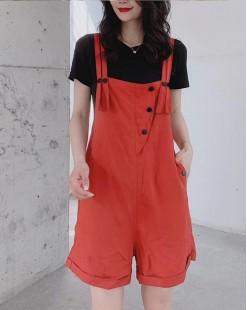 Crazy Summer Sale 任選2件額外再9折優惠碼:CS210 (HK$184) -  短Tee背帶短褲套裝 - 4987A