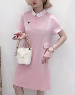 【新品】有領紐扣連身裙 - 5007A #全店新品4件起75折優惠碼 : -25OFF (HK$143)