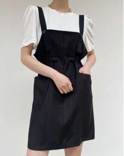 Crazy Summer Sale 任選2件額外再9折優惠碼:CS210 (HK$153) -  短Tee背帶短裙套裝 - 5031A