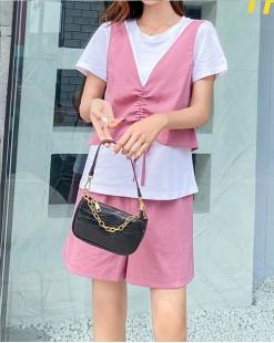 Final Sale 最後勁減,全場連身裙/套裝單件65折 - Tee橡筋短褲套裝 - 5071A