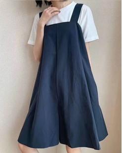 Final Sale 最後勁減,全場連身裙單件65折 -  淨色背心連身裙 - 5150A