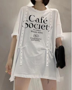 Final Sale 最後勁減,全場Tshirt單件75折 -  型格短袖純棉長Tee - 5208A