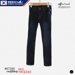 67290 ✈韓國洗水牛仔褲