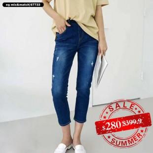韓國直送潮牛仔褲 - 67733
