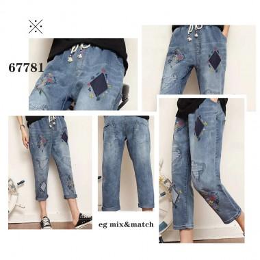 韓國直送潮牛仔褲 - 67781