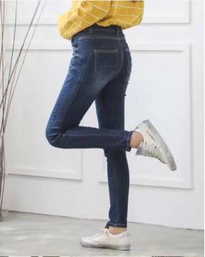 韓國直送J.BLANC不規則自然修邊刷毛牛仔褲 - 67826  #全店新品4件起75折:HK$255
