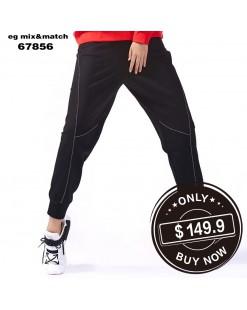 【新品】撞色車線運動橡筋褲 - 67856 #全店新品4件起75折:HK$113 #