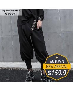 【新品】個性拉鏈設計燈籠褲 - 67884  #全店新品4件起75折:HK$120 #