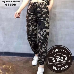 韓國VIKINI DENIM潮款闊腳褲 - 67898