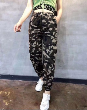 Vikini Denim迷彩雙袋修身橡筋長褲 - 67898  #全店新品4件起75折:HK$150 #