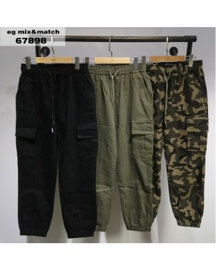 【新品】韓國VIKINI DENIM 迷彩橡筋長褲 - 67898  #全店新品4件起75折:HK$150 #