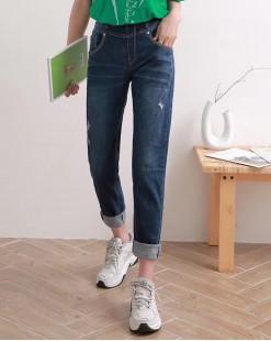 韓國直送VIKINI/BLUE VERY個性顯瘦修身牛仔褲 - 67907  #全店新品4件起75折優惠碼:-25OFF  (HK$281) #