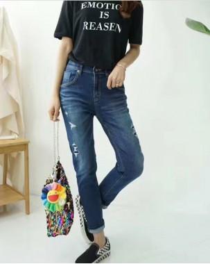 Crazy Summer Sale 任選2件額外再9折優惠碼:CS210 (HK$337) -  韓國直送VIKINI/BLUE VERY修身彈性牛仔褲 - 67910