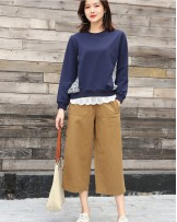 淨色個性闊腳褲 - 67919 #全店新品4件起75折優惠碼:-25OFF (HK$105) #