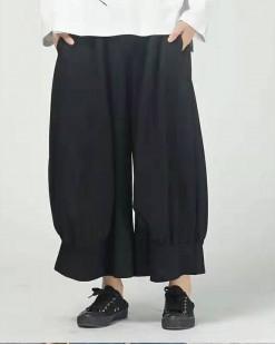 淨色雙口袋荷葉邊闊腳褲 - 67928#全店新品4件起75折優惠碼:-25OFF (HK$150) #