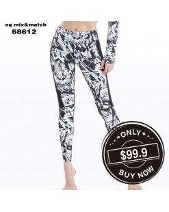 【新品】個性彈力修身Leggings - 68612 #全店新品4件起75折:HK$75#