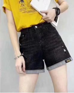 Crazy Summer Sale 任選2件額外再9折優惠碼:CS210 (HK$138) -  韓國直送BUTTON牛仔橡筋短褲 - 69045