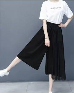 新品Hot sale 任選2件即時85折優惠碼:CS215 (HK$145) - 網紗闊腳褲 - 69082