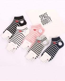 全棉襪子(1套5對) - 78314 - 18號色