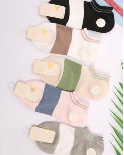 全棉襪子(1套5對) - 78314 - 19號色