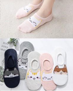 全棉襪子(1套5對) - 78315 - 6號色