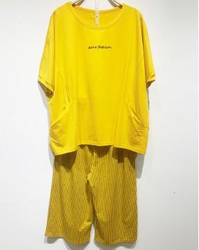蝙蝠短袖家居服(套裝) - 78347