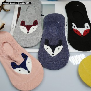 全棉襪子(1套5對) - 79935 - 1號色