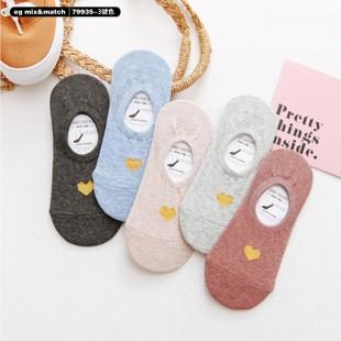 全棉襪子(1套5對) - 79935 - 3 號色