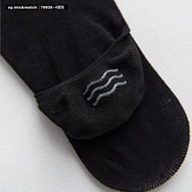 全棉襪子(1套5對) - 79935 -  4 號色
