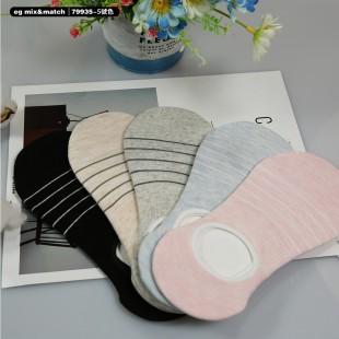 全棉襪子(1套5對) - 79935 - 5 號色