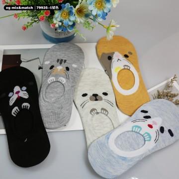 全棉襪子(1套5對) - 79935 - 6 號色