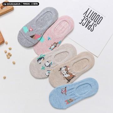 全棉襪子(1套5對) - 79935 - 15號色