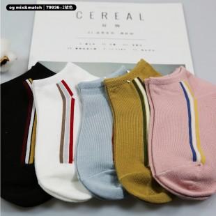 全棉襪子(1套5對) - 79936 - 2號色