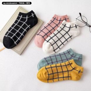 全棉襪子(1套5對) - 79936 - 3號色