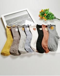 全棉襪子 (1组5對) - 79985-25號色